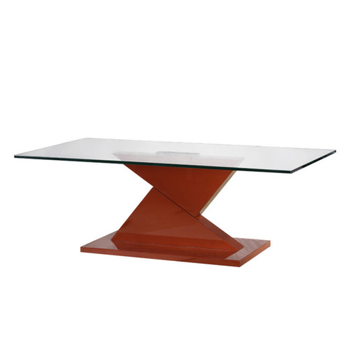 Bellini Modern Living Coffee, Console, Sofa & End Tables Eli Red Glass Coffee Table