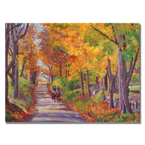 'Autumn Ride' by David Lloyd Glover Framed Painting Print on Wrapped Canvas
