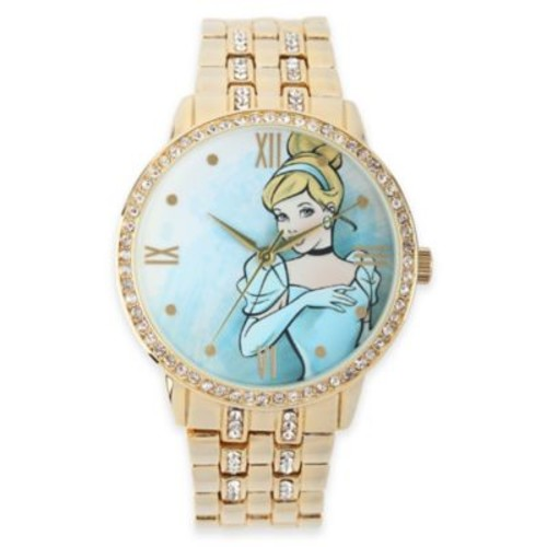 Disney Cinderella Ladies' 40mm Cubic Zirconia-Accented Goldtone Bracelet Watch