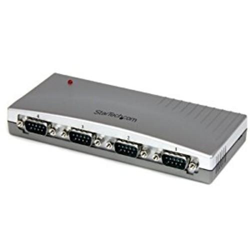 StarTech ICUSB2324 4 Port USB to RS232 Serial DB9 Adapter Hub [4 Port, Desktop]