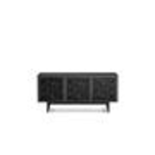 BDI Elements 8777 (Charcoal w/Ricochet Doors) Audio/video cabinet with low-profile media base for TVs up to 70