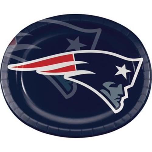 NFL New England Patriots Oval Plates 8 pk (069519)