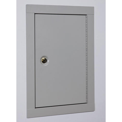 Stack-On Mid-Sized In-Wall Safe Cabinet Keyed Lock, Off-White, 0.65 cu. ft.