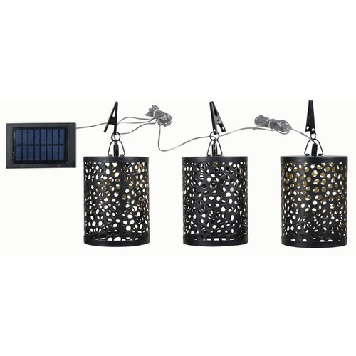 Design Craft Other Outdoor Lighting Sun 3-light Solar Umbrella Set