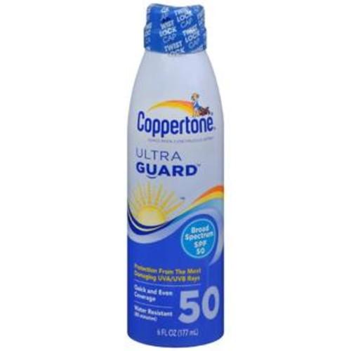 Coppertone UltraGuard Sunscreen Continuous Spray SPF 50, 6 OZ