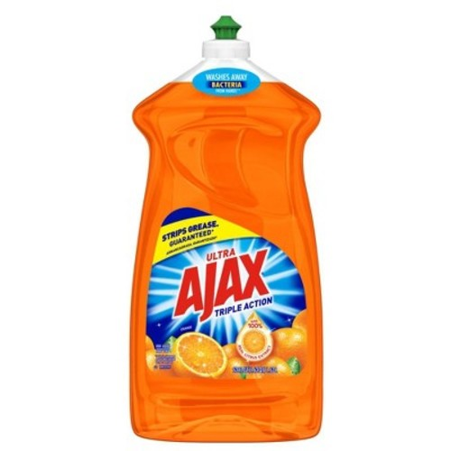 Ajax Triple Action Dish Liquid, Orange, 52 Fluid Ounce (Pack of 6)