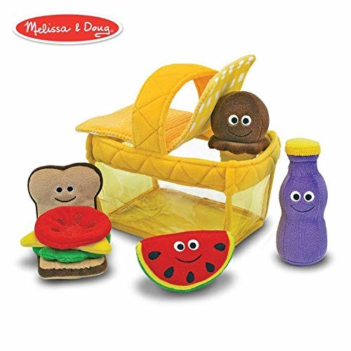 Melissa & Doug Deluxe Picnic Basket Fill and Spill Soft Baby Toy [Standard Version]