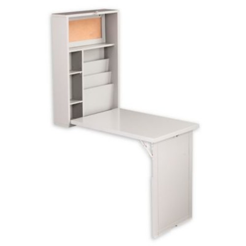 Southern Enterprises Fold-Out Wall Mount Convertible Desk in Grey