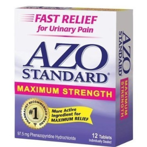Urinary Pain Relief, Maximum Strength AZO 12 Tabs [12 Tabs]