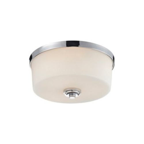 Laurel 3-Light Flush-Mount Ceiling Fixture in Chrome