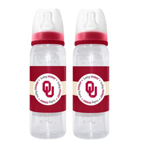 Baby Fanatic University of Oklahoma Sooners 2 Pack Baby Bottle