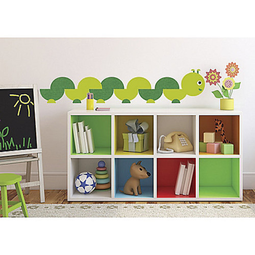 RoomMates ONE Dcor Book Worm Peel and Stick Wall Decals