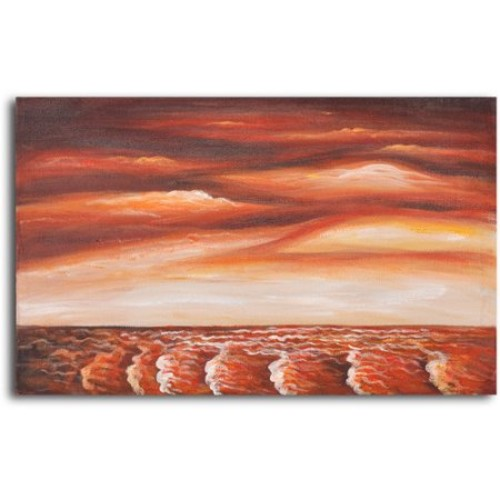 Brewing Unrest Original Painting on Wrapped Canvas