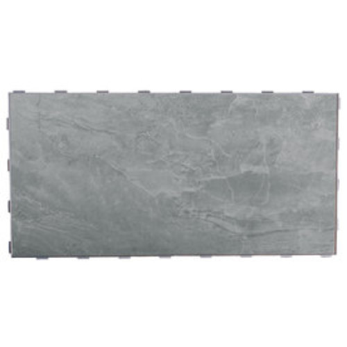 SnapStone Interlocking 4-Pack Oyster Grey Porcelain Floor Tile (Common: 12-in x 24-in; Actual: 23.79-in x 11.89-in)