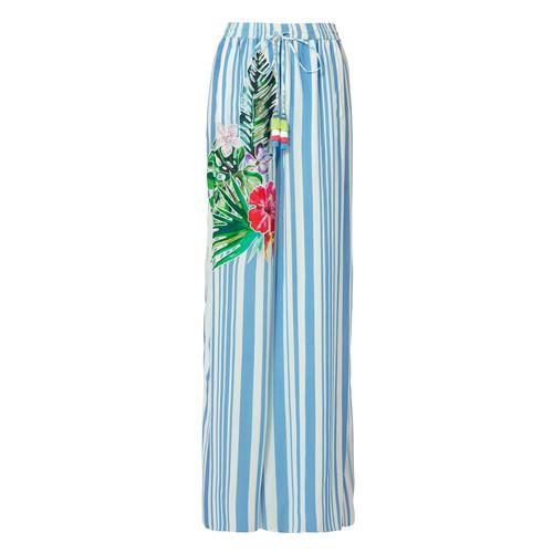 Blossom Stripe Split Hem Pants