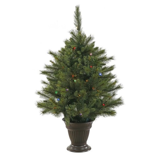 Vickerman 3.5-ft Pre-lit Artificial Christmas Tree with 50 Multicolor LED Lights