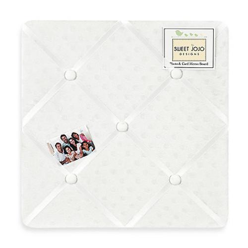 Sweet Jojo Designs Minky Dot Fabric Memo Board in White