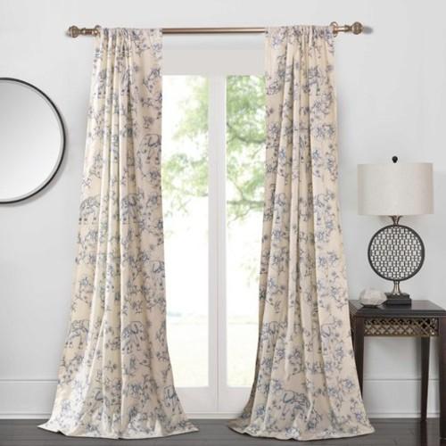 Brunwood Wildlife Semi-Sheer Curtain Panels