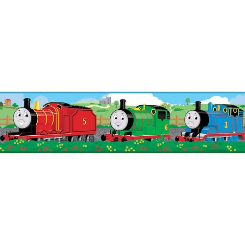 RoomMates Thomas and Friends Peel and Stick Wallpaper Border