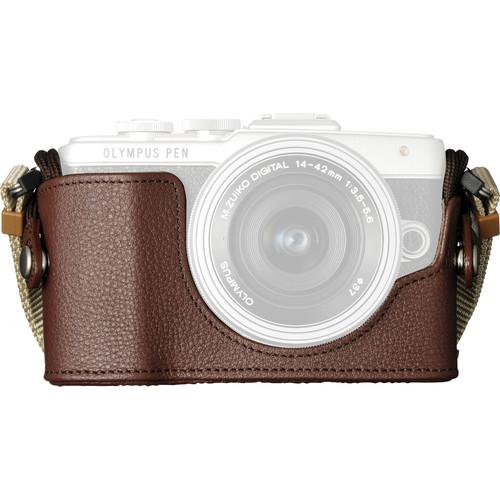 CS-45B Genuine Leather Body Jacket for E-PL7 Digital Camera (Brown)