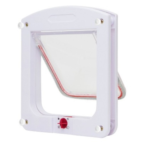 Paws & Pals Dog Cat Flap Doors with 4 Way Lock for Pets Entry & Exit - Durable Model : Pet Supplies