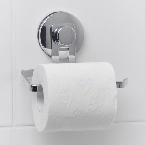 Everloc Solutions Stainless Steel Suction Cup Toilet Roll Holder