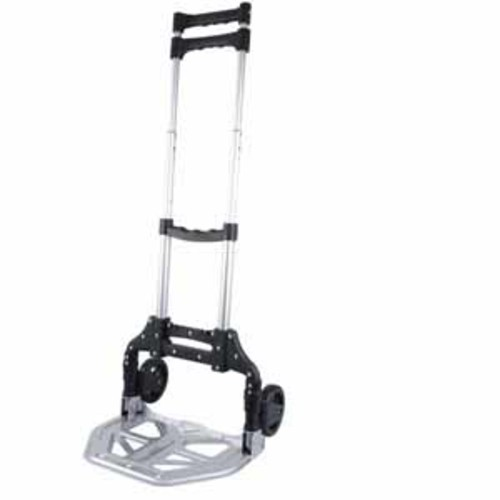 Olympia Tools Pack-N-Roll 150lb. Folding Cart With Steel Toe Plate 2