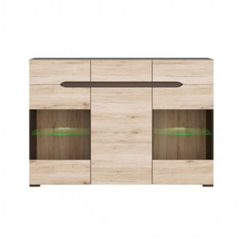 Contemp Style Elpasso 3 Drawer Accent Cabinet; Gray / Light Brown