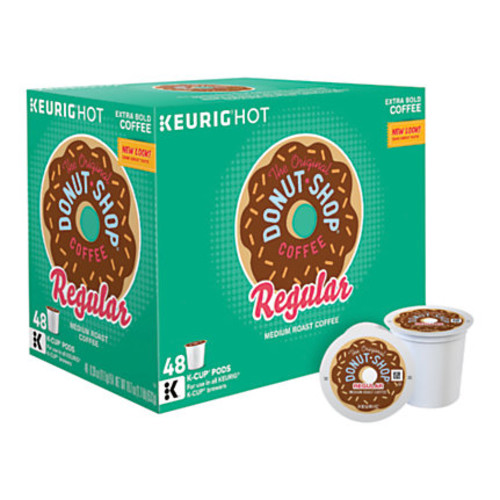 The Original Donut Shop Medium Roast K-Cup Pods, 0.39 Oz, Box Of 48