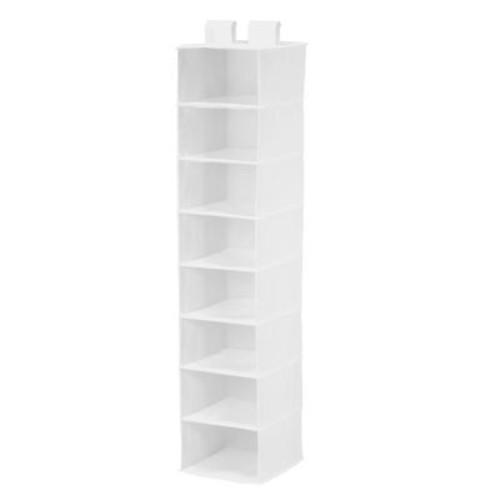 Honey-Can-Do SFT-01239 Hanging Closet Organizer, White, 8-Shelf [White]