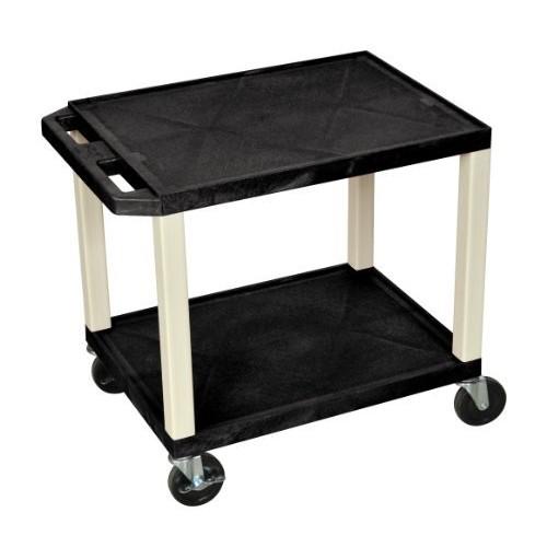 H WILSON WT26E Movable Multipurpose Utility Serving Cart, Black [Black]