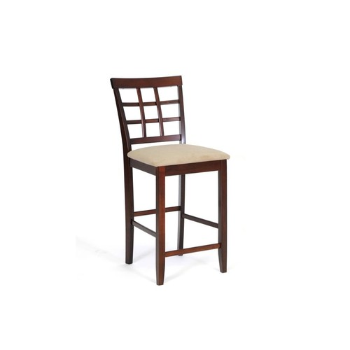 Baxton Studio Katelyn Brown Wood Modern Counter Stool (Set of 2)