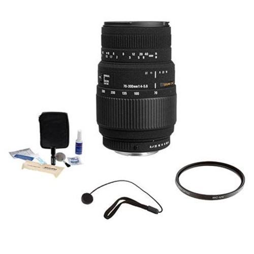 Sigma 70-300mm f4-5.6 DG Macro Tele Zoom Lens f/Sony, Minolta #509205 -Bundle- 509205 K