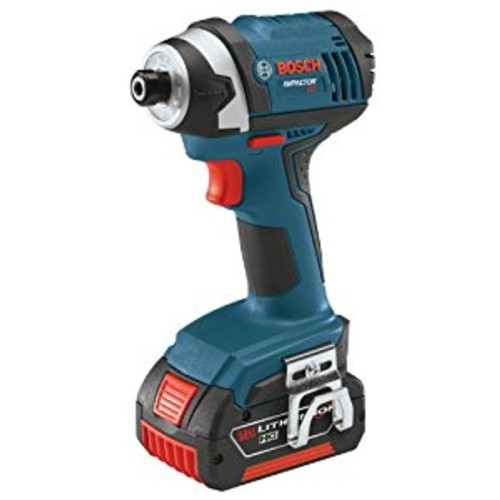 Bosch IDS181-01 18-Volt Lithium-Ion Compact 1/4-Inch Hex Impact Driver with 2 Lithium-Ion 4.0-Ah High Capacity Batteries