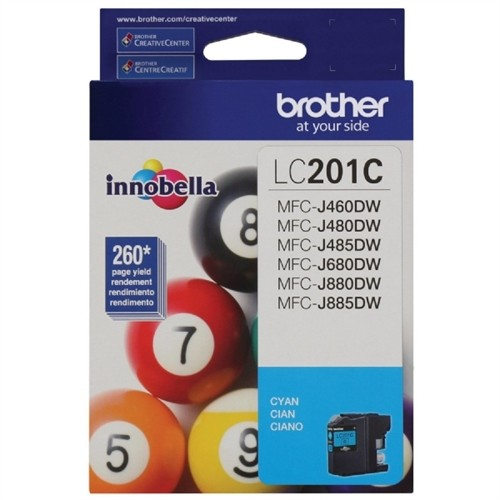 Brother Innobella Ink Cartridge - Cyan LC201C