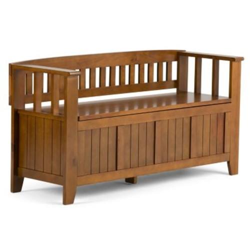 Simpli Home Acadian Entryway Storage Bench