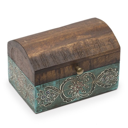 Handmade Expressions Jewelry Boxes Antiqued Metal Chest