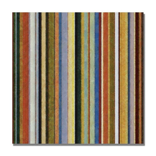 Trademark Fine Art Michelle Calkins 'Comfortable Stripes V' Canvas Art 24x24 Inches