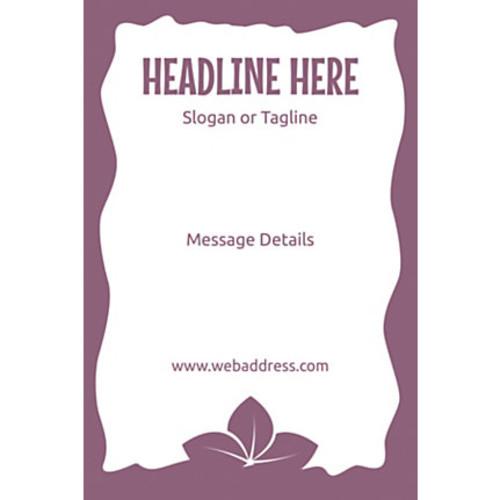 Adhesive Sign, Purple Leaves, Vertical