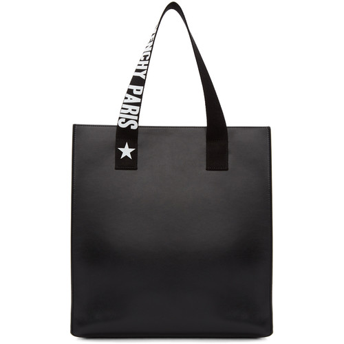 Black Medium Logo Strap Stargate Tote