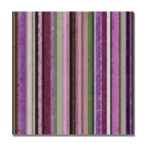 Trademark Fine Art Michelle Calkins 'Comfortable Stripes III' Canvas Art 24x24 Inches