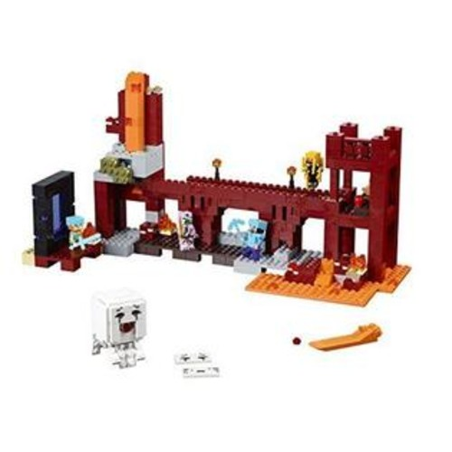 LEGO Minecraft 21122 the Nether Fortress Building Kit, LEGO BUILDING TOY SETS