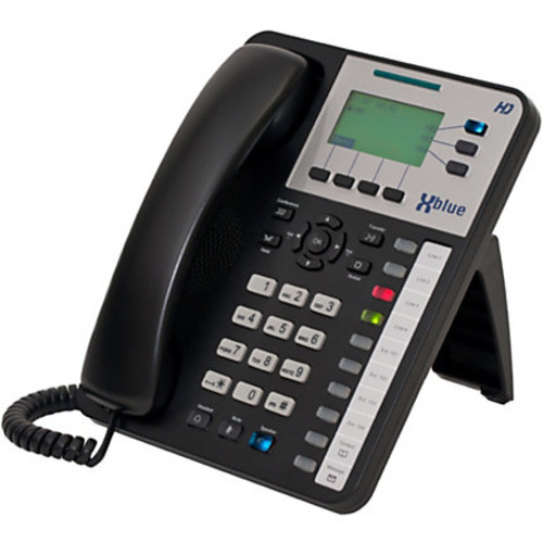 XBLUE X25 VoIP Phone System With 8 X3030 IP Phones, Black