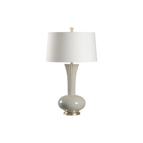 Corbin Table Lamp, Gray Glaze/Silver