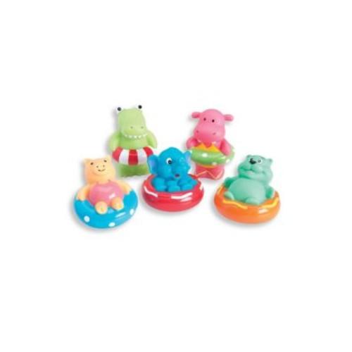 Baby's Five-Piece Swim Party Squirtable Bath Toys Set