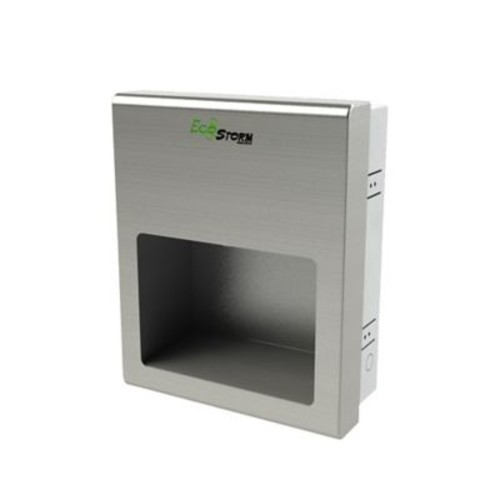 Palmer Fixture Ecostorm2 Recessed High Speed 110/120 Volt Hand Dryer in Brushed Stainless
