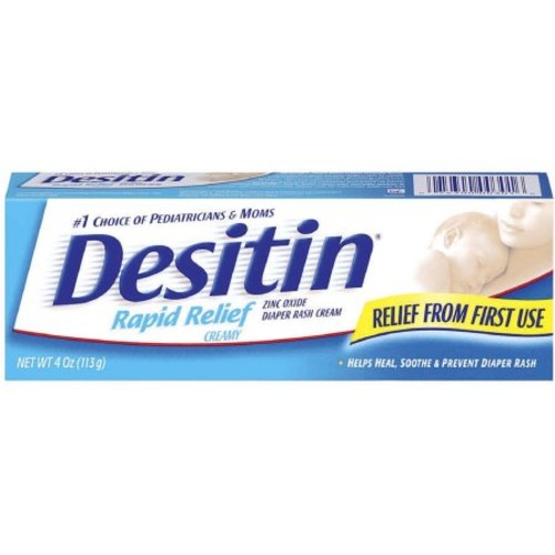 DESITIN Rapid Relief Diaper Rash Ointment, Creamy 4 oz (Pack of 4)