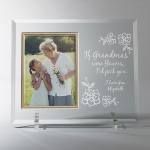 Grandmas Flowers/I Love You 4-Inch x 6-Inch Personalized Picture Frame