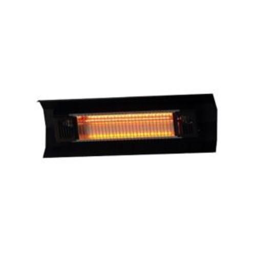 Fire Sense 1,500-Watt Black Wall Mounted Infrared Electric Patio Heater