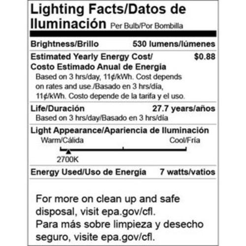 Goodlite Warm White 50-watt Equivalent 2,700-kelvin Long-neck Dimmable LED Floodlight Bulbs (Pack of 10)